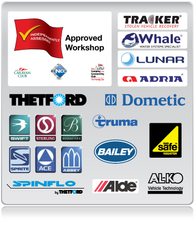 Approved Workshop, qualified engineers, collection & delivery service, mobile and static servicing & repairs, approved service & warranty centre for all big companies, authorised service caravan centre
